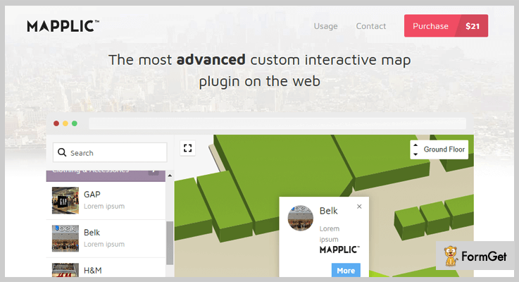 Mapplic jQuery Image Map Plugins