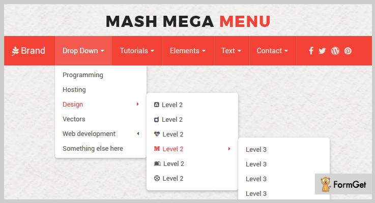 Mash Mega Menu jQuery Sticky Plugins