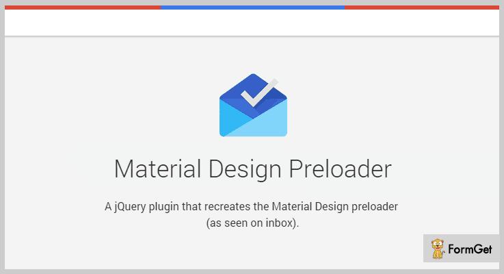 Material Preloader Material Design jQuery Plugin