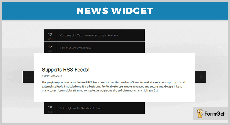 News Widget News Feed jQuery Plugin