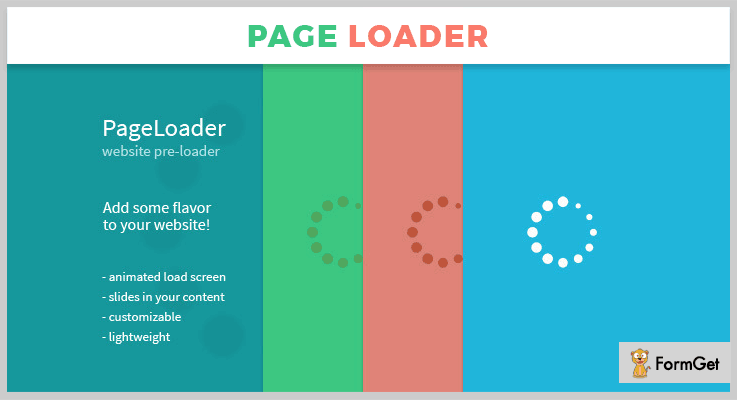 PageLoader jQuery Loader Plugin