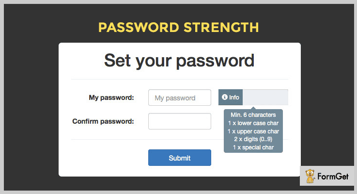 Password Strength jQuery Password Strength Plugin