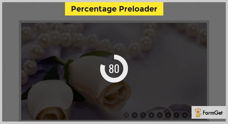 Percentage Preloader jQuery Preloader Plugin