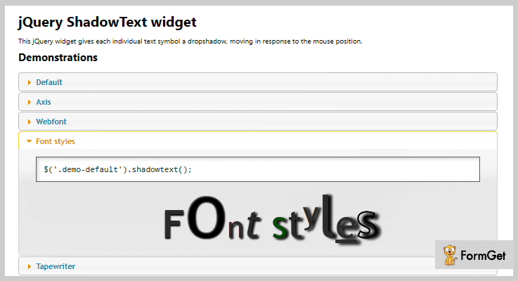 Shadow Text jQuery Text Shadow Plugin