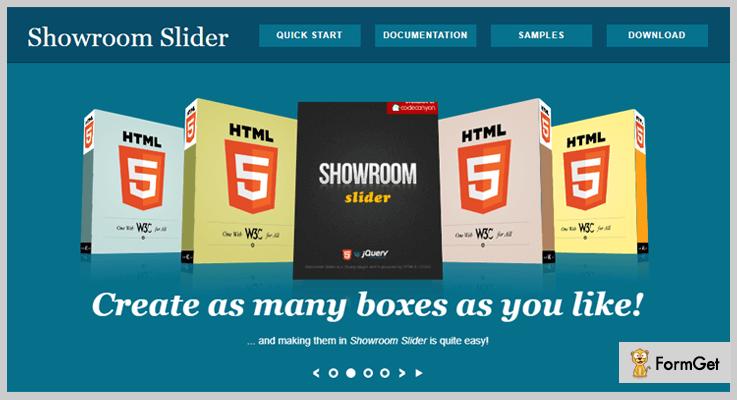 Showroom Slider jQuery 3D Rotator Plugins