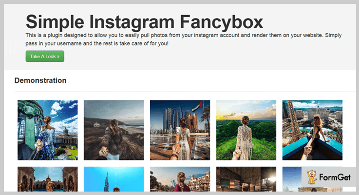 Simple Instagram Fancybox jQuery Plugin