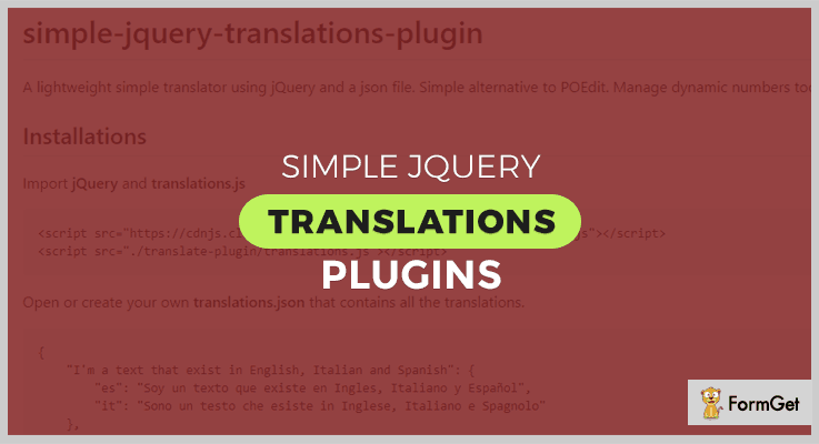 Simple jQuery Translations Plugin