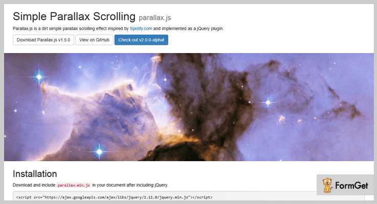 Simple Parallax Scrolling jQuery Parallax Plugin