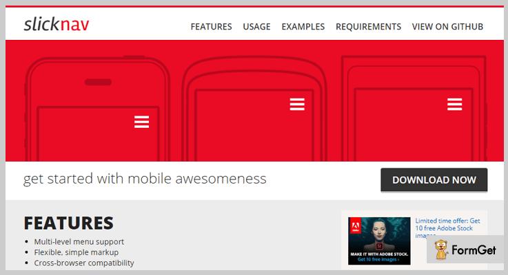 SlickNav Mobile Menu jQuery Plugin