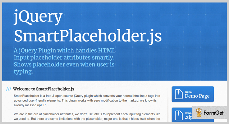 Smart Placeholder jQuery Plugin
