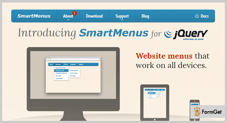 SmartMenus jQuery Hamburger Button Plugin