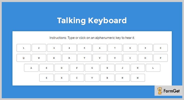 Talking Keyboard jQuery Virtual Keyboard Plugin