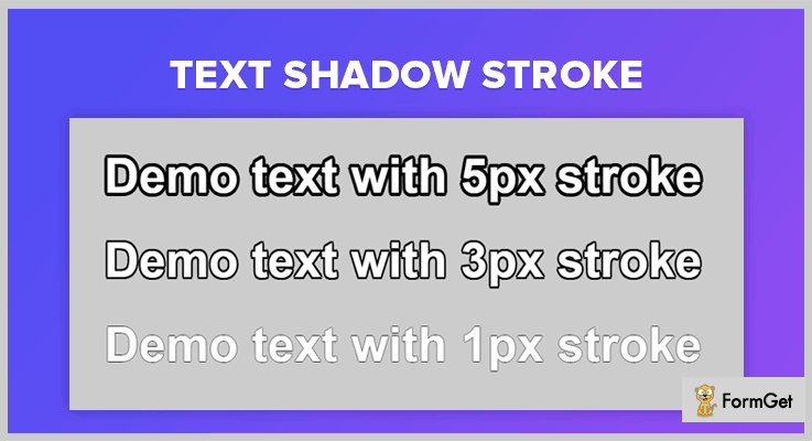 Text Shadow Stroke jQuery Text Shadow Plugin