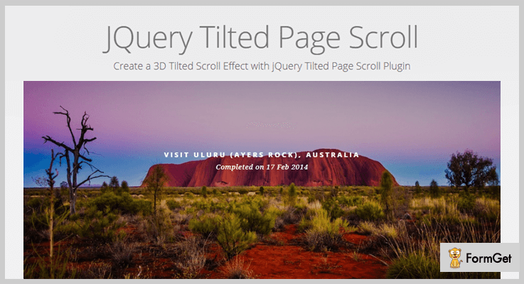 Tiltedpage Scroll jQuery 3D Effect Plugin