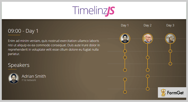 TimelinzJS jQuery Timeline Plugin