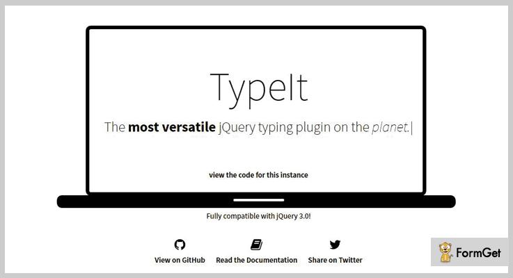 TypeIt jQuery Typing Plugins