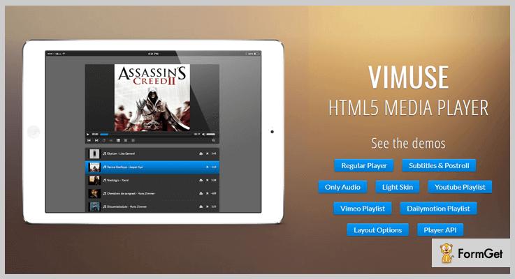 Vimuse Player jQuery Media Plugin