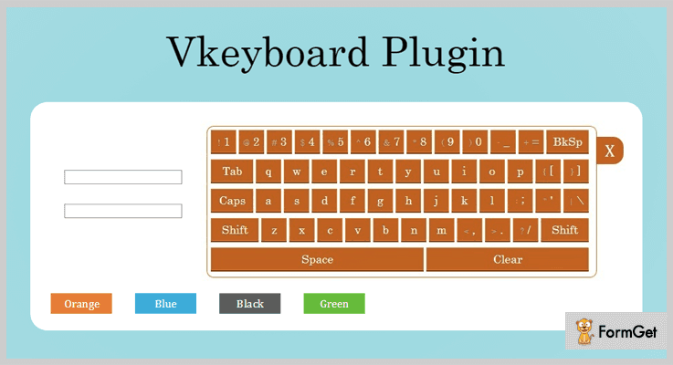 Vkeyboard jQuery Virtual Keyboard Plugin