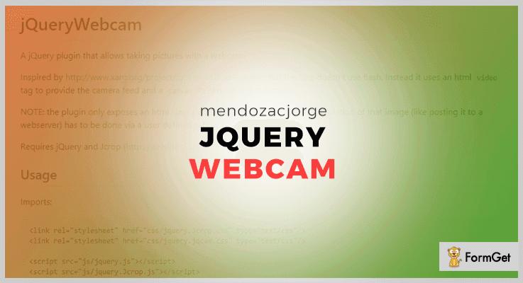 jQueryWebcam Plugin