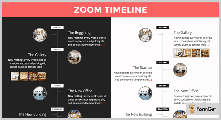 Zoomtimeline jQuery History Plugin