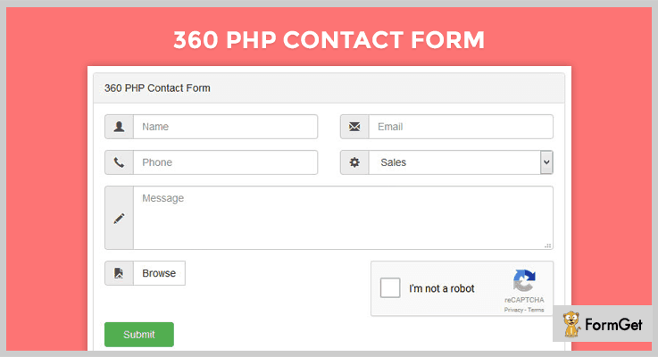 360 PHP Contact Form Script Contact Form PHP Script