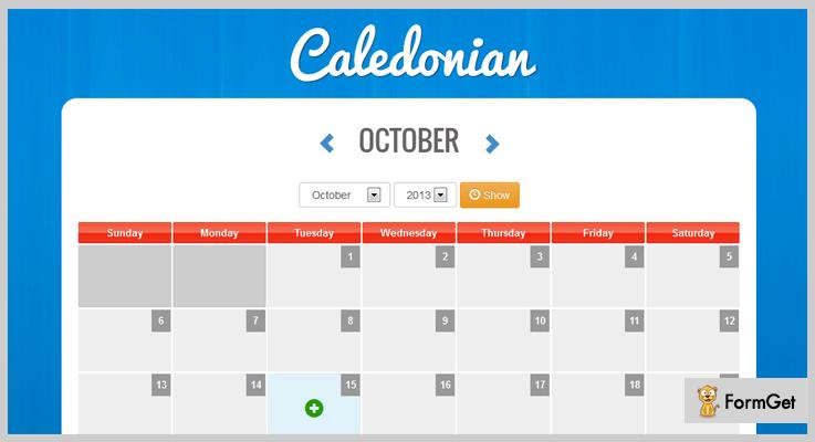 Caledonian PHP Event Calendar