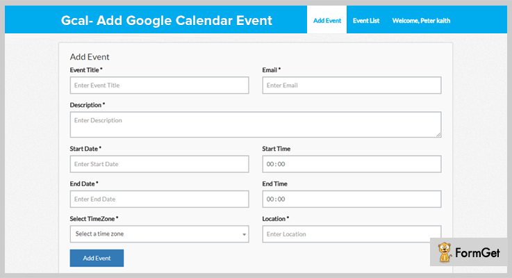 Gcal Add Google Calendar Event