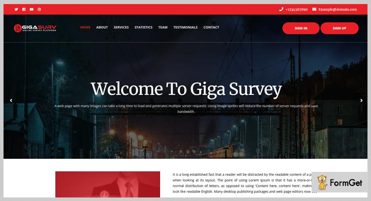 GigaSurv PHP Script