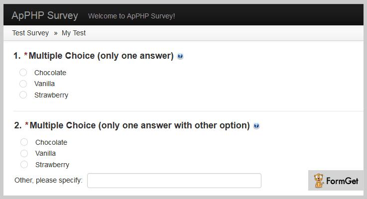 PHP Survey Script