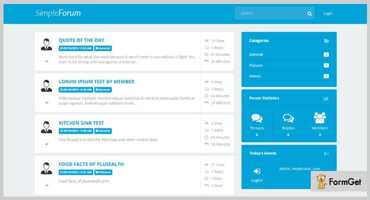 Simple Forum PHP Script
