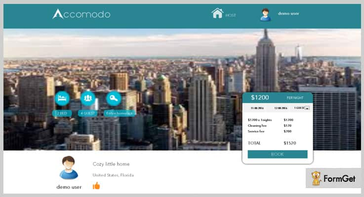 Accomodo Accommodation Booking PHP Script