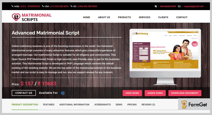 Advanced Matrimonial PHP Script