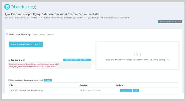 Ajax Mysql Database Backup & Restore Script Backup PHP Script