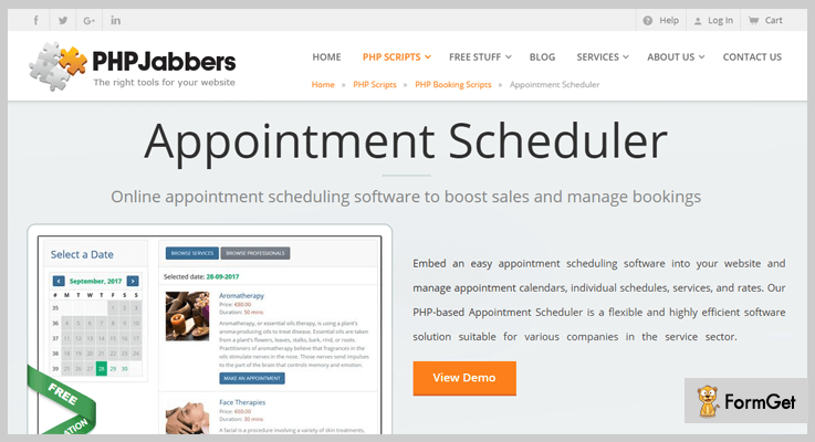 Appointment Scheduler Scheduling PHP Script