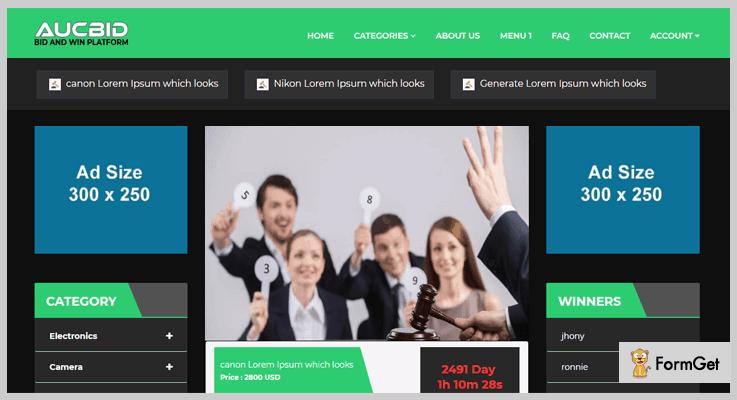 AucBID Auction PHP Script