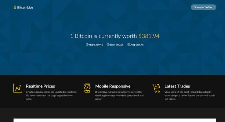 BitcoinLive Bitcoin PHP Script