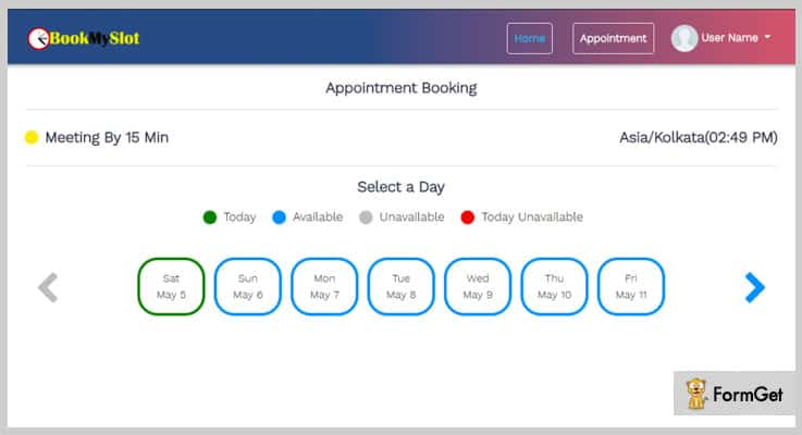 BookMySlot Booking PHP Script