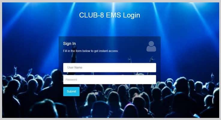CLUB-8 EMS Event PHP Script
