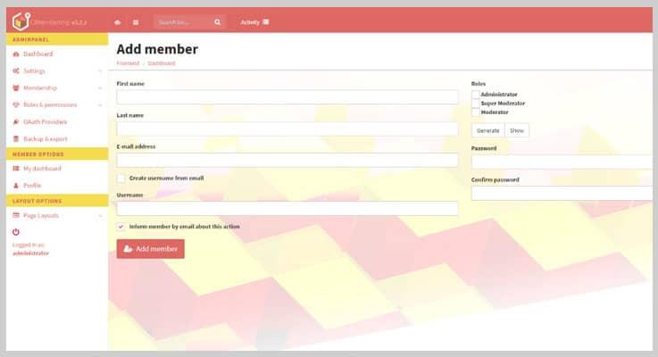 CodeIgniter Membership PHP Script