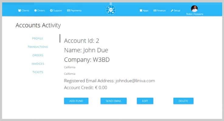 Business Management System CRM PHP Script