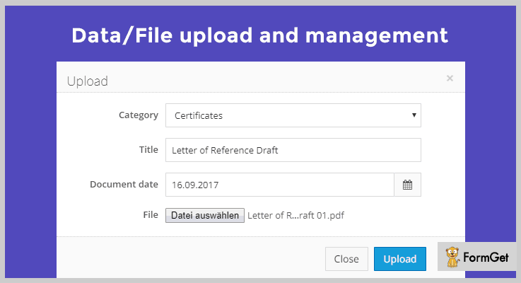 Data/File Upload And Management File Manager PHP Script