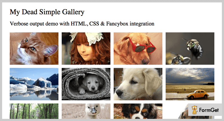 Dead Simple Gallery PHP Script