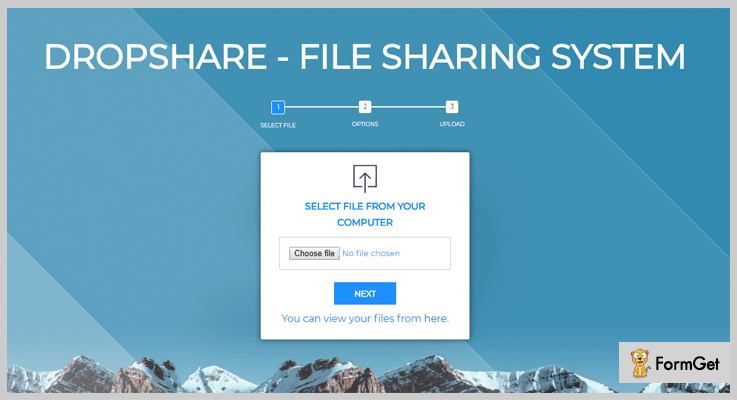 DropShare File Sharing PHP Script