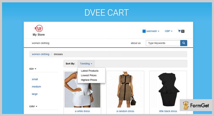 Dvee Cart Shopping Cart PHP Script