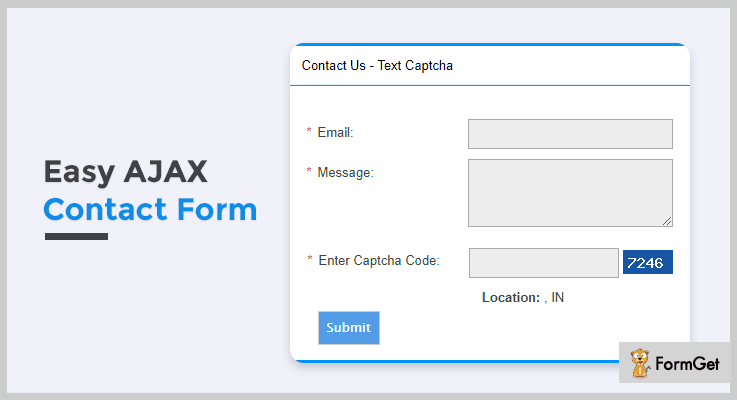 Easy AJAX Contact Form Contact Form PHP Script