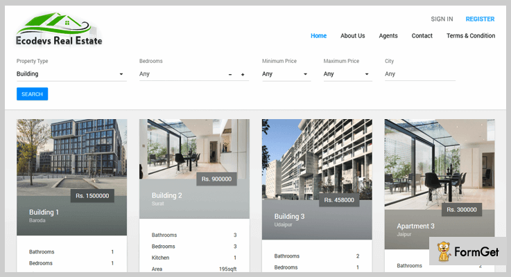 EcoDevs Real Estate PHP Script