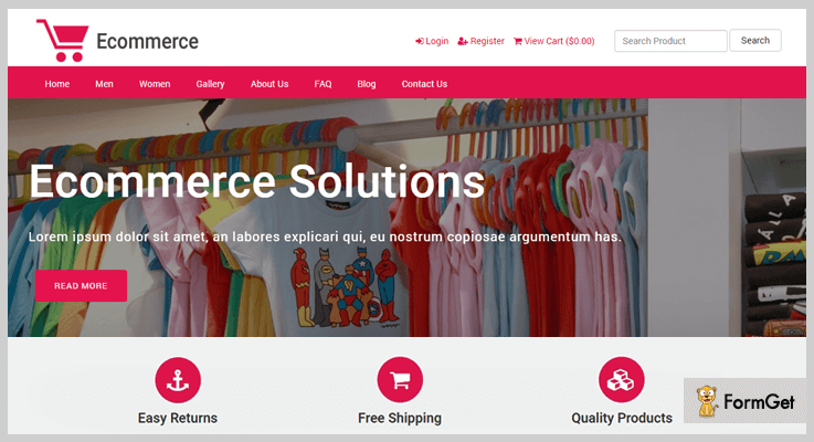 E-commerce Responsive E-commerce PHP Script