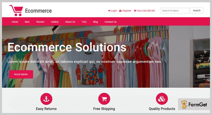 E-commerce Responsive E-commerce PHP Script