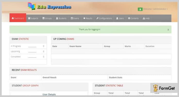 Edu Expression Online Exam PHP Script