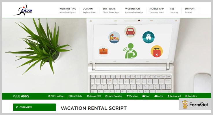 Eicra PHP Vacation Rental Script